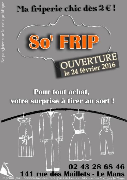 friperie le mans, friperie solidaire le mans, friperie apf